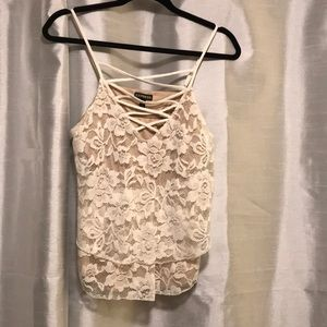 Camisole lace crop top Express